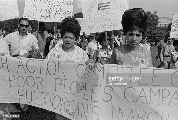 Puerto Ricans marching in Washington DC during the Poor People's Campaign 1968