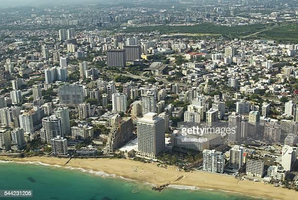 USA Puerto Rico San Juan Blick über die Stadt