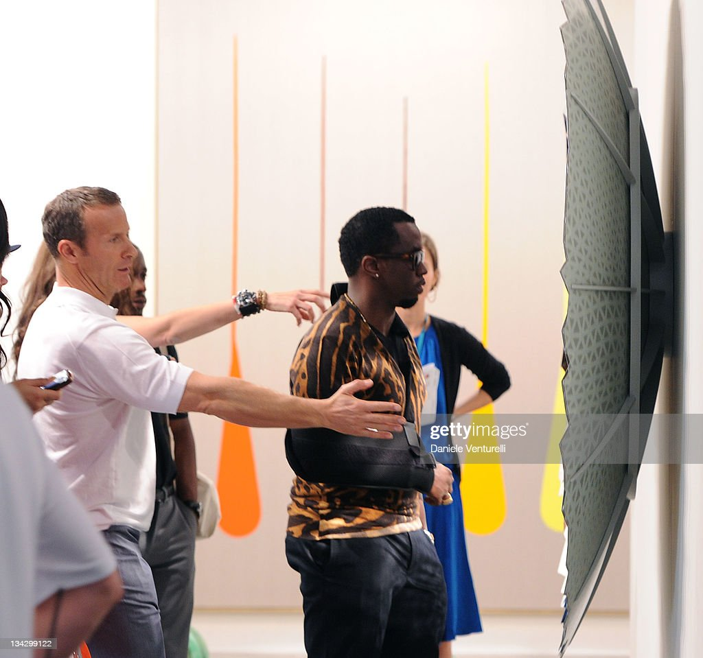 Puff Daddy and Vladislav Doronin attend the 'Art Basel Miami Beach 2011 preview' at the Miami Beach Convention Center on November 30 2011 in Miami...