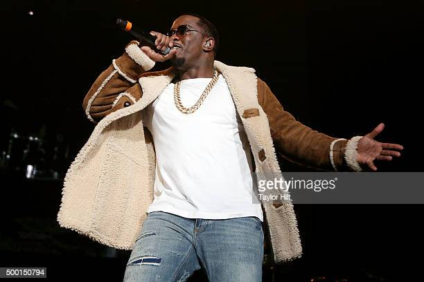 Puff Daddy performs during Hot 97's 'Busta Rhymes And Friends Hot For The Holidays' concert at Prudential Center on December 5 2015 in Newark New...