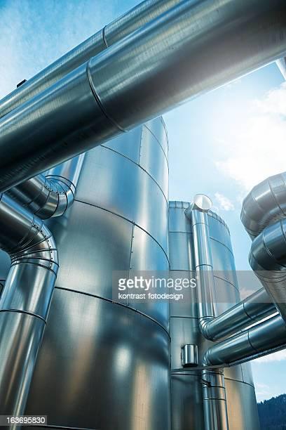 Bioenergie, Biogas, recipiente tampón, Pufferspeicher, Blockheizkraftwerk, Energiewende, Alemania