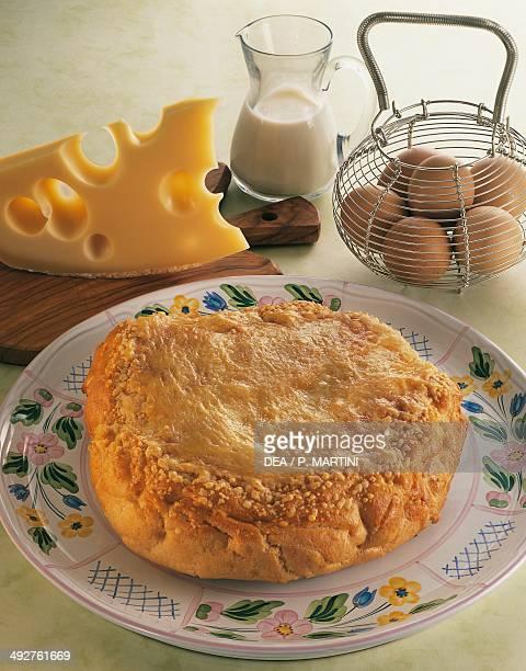 Puffpastry cheese tart