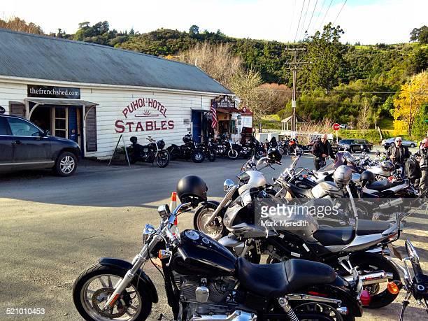 Puhoi Hotel and pub favourite biker haunt near Auckland