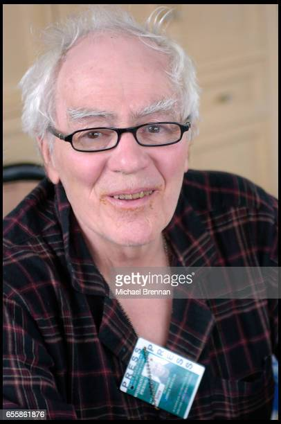 Pulitzer prize winning writer Jimmy Breslin at home in New York City New York Wearing pyjamas and his press credentials Breslin talks about his...