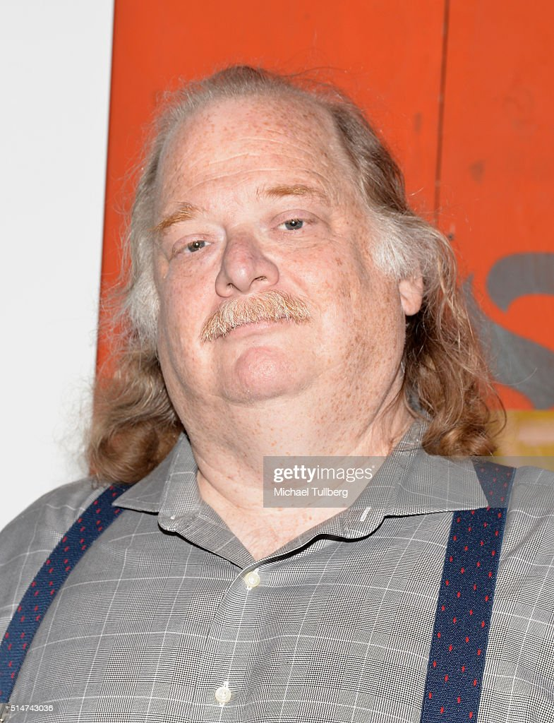 Pulitzer Prizewinning food critic Jonathan Gold attends the Los Angeles premiere of the documentary 'City Of Gold' at Grand Central Market on March...