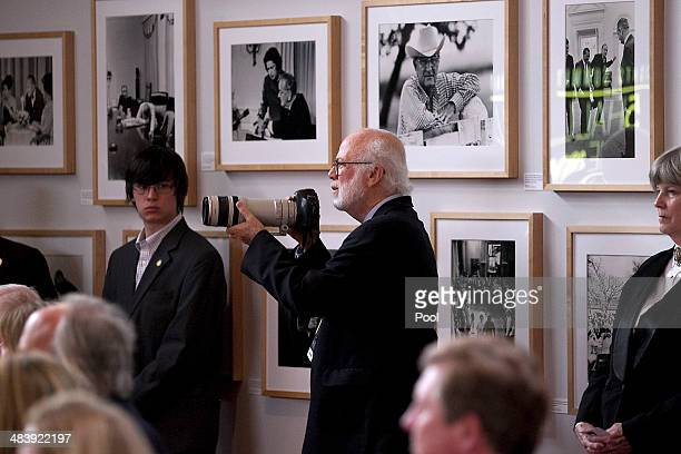 Pulitzerwinning photojournalist and White House photographer for President Gerald Ford David Hume Kennerly photographs former President George W Bush...