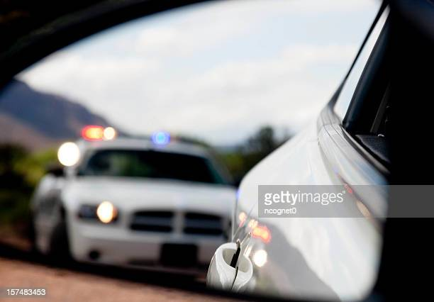 Pulled over by the Police in blurred Dodge Charger