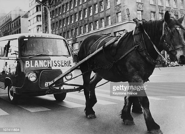 Pulling A Van With A Horse In Bruxelles On November 22Nd 1959
