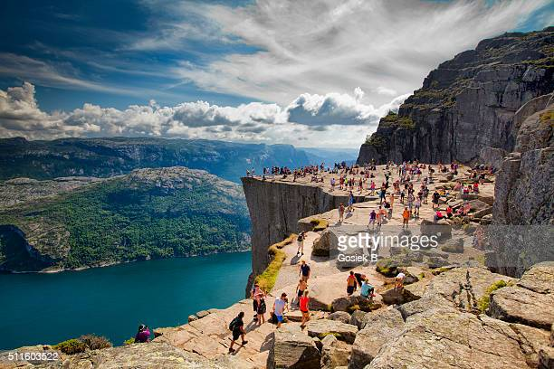 Pulpit Rock, Norway - Stock Image