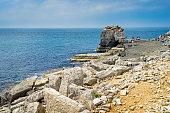 View towards Pulpit Rock Portland Bill Dorset England UK Europe