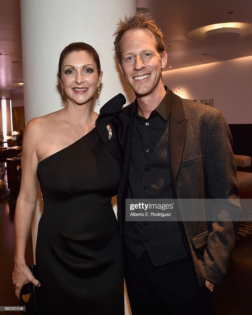 Pulse Nightclub and onePULSE Foundation founder, Barbara Poma and CEO of Virgin Produced, Jason Felts attend a cocktail reception Benefit for onePULSE Foundation at NeueHouse Hollywood on August 19, 2016 in Los Angeles, California.