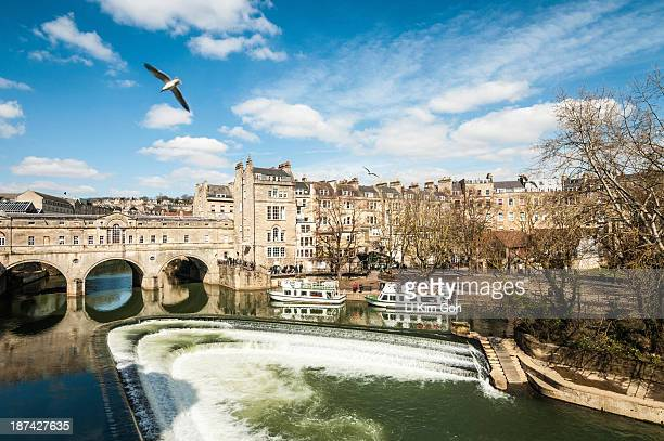 Pulteney Bridge over the River Avon, England