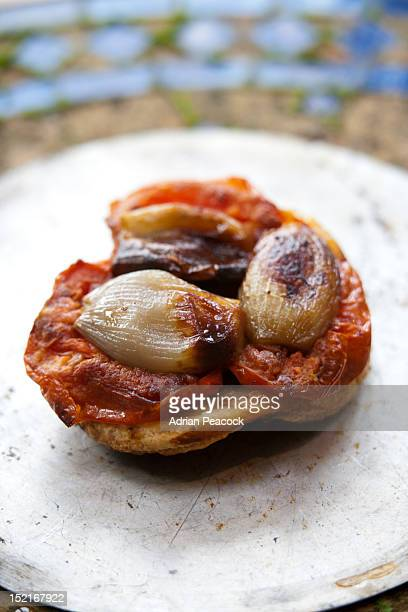 Pumkin and caramelised shallot tarte tatin