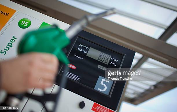 Pump nozzle at a gas station on April 18 in Berlin Germany Photo by Thomas Trutschel/Photothek via Getty Images