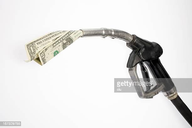 Pump nozzle sucking dollars