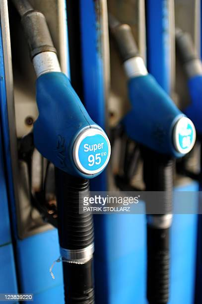 A pump serving alternative E10 fuel at a petrol station in Bremerhaven on August 31 2011 AFP PHOTO / PATRIK STOLLARZ