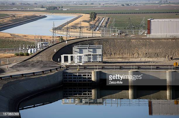 Pump station along the California Aqueduct
