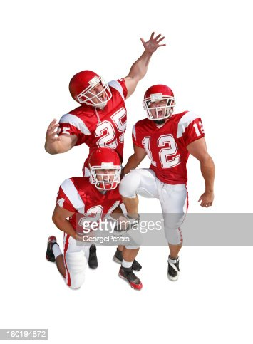 Pumped Up Football Players with Clipping Path : Stockfoto