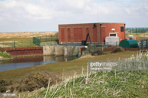 Pumping station Benacre near Kessingland Suffolk England