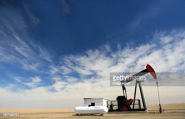 Pumpjack on Oil Field in Alberta