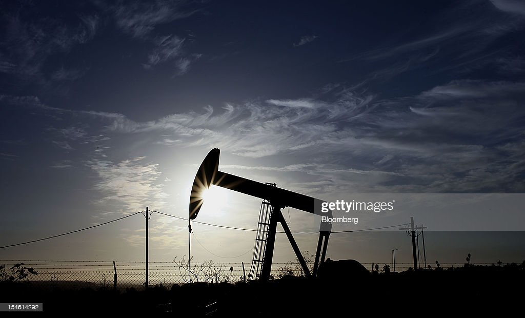 A pumpjack operates at the Inglewood Oil field in Los Angeles, California, U.S., on Thursday, Oct. 19, 2012. The Inglewood Oil Field is a steady source of domestic oil and natural gas as well as the second most productive oil field in the entire L.A. Basin. Photographer: Patrick T. Fallon/Bloomberg via Getty Images