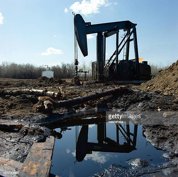 Pumpjack Reflected in Water