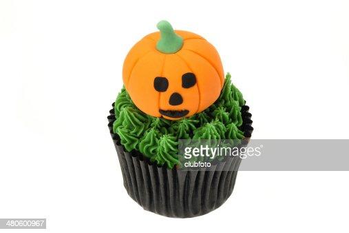 Pumpkin Halloween cupcake : Stock Photo