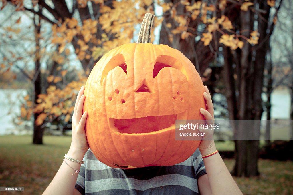 Pumpkin head girl