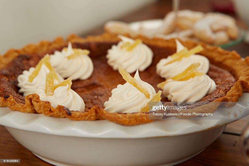 Pumpkin Pie : Stock Photo