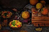 Pumpkin rice and fish