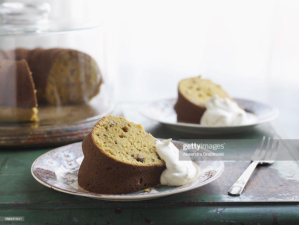 Pumpkin Sage Cake : Stock Photo