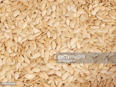Pumpkin seeds background. : Stock Photo