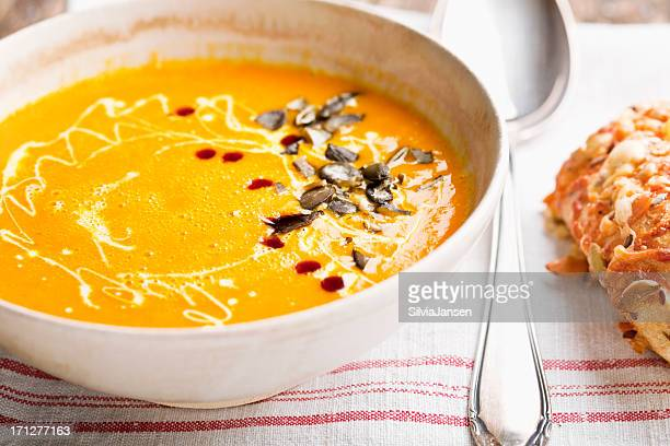 pumpkin soup and bread