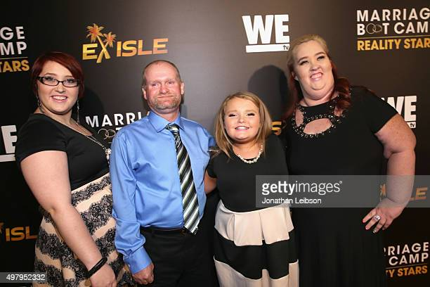 Pumpkin Sugar Bear Honey Boo Boo and Mama June attend the WE tv premiere of 'Marriage Boot Camp' Reality Stars and 'Exisled' on November 19 2015 in...