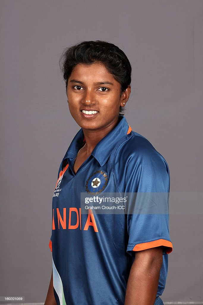 Punam Raut of India poses at a portrait session ahead of the ICC Womens World Cup 2013 at the Taj Mahal Palace Hotel on January 27, 2013 in Mumbai, India.