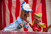 A traditional Punch and Judy puppet show