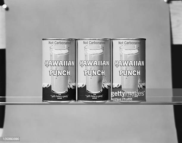 Punch tins on glass, close-up