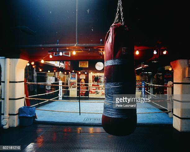 Punching bag and boxing ring