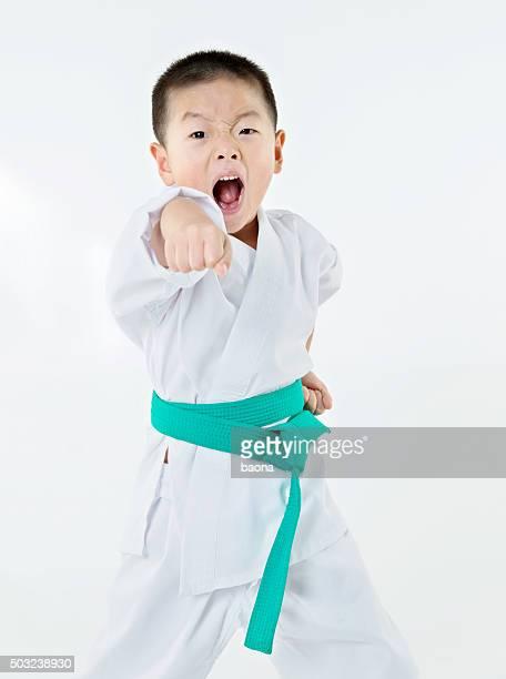 Punching boy
