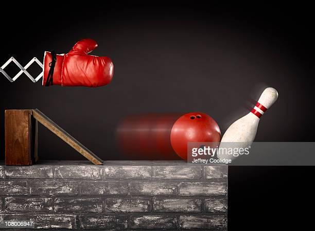 Punching Glove and Bowling Ball