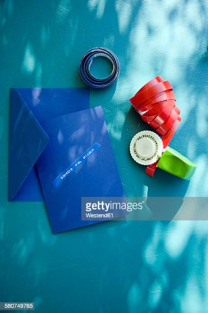 Punching machine, ribbons and post card