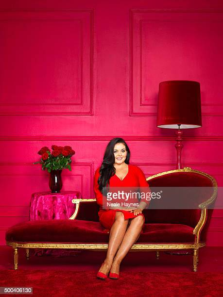 Pundit on Channel 4s GoggleBox Scarlett Moffatt is photographed for the Daily Mail on August 18 2015 in London England