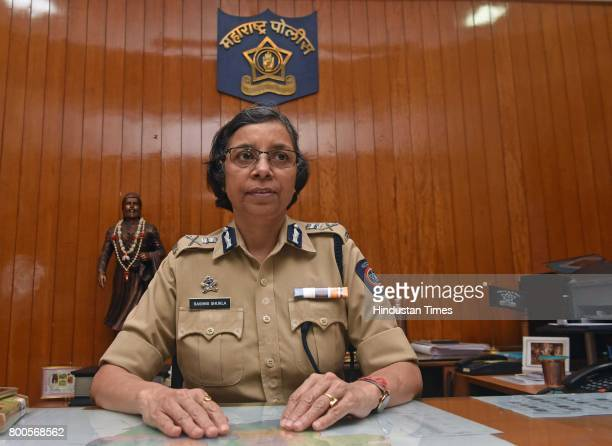 Pune Police Commissioner Rashmi Shukla poses during an exclusive interview with Hindustan Times at her office on June 23 2017 in Pune India