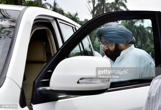 Punjab Chief Minister Amarinder Singh at Parliament house during the Monsoon Session on July 20 2017 in New Delhi India