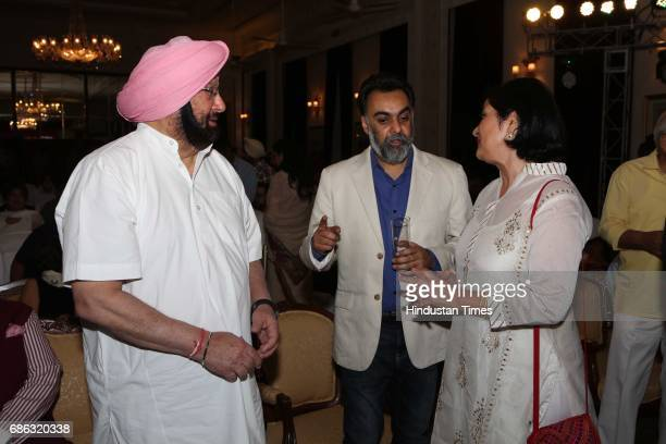 Punjab Chief Minister Captain Amarinder Singh and writer Khushwant Singh during the launch of a book titled 'Captain Amarinder Singh The People's...