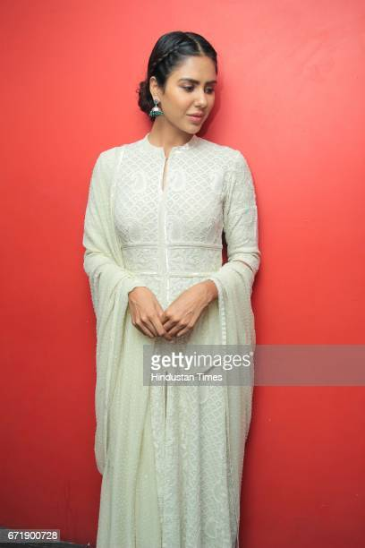 Punjabi actor Sonam Bajwa poses during an exclusive interview with HT City Hindustan Times for the promotion of her upcoming movie 'Manje Bistre' at...