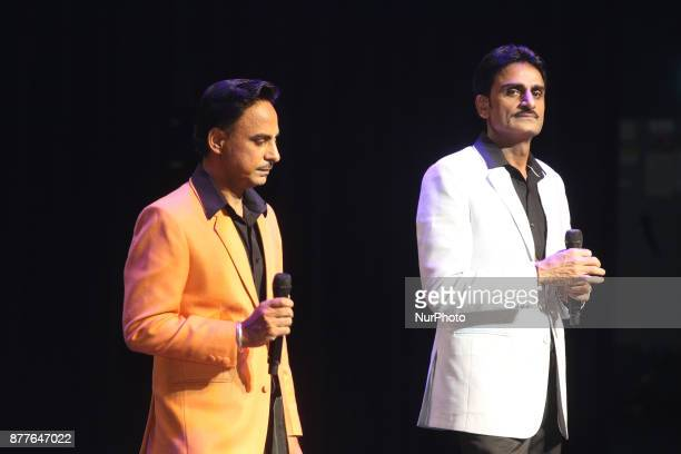 Punjabi singers the 'Munde Brothers' perform in Mississauga Ontario Canada on 11 November 2017