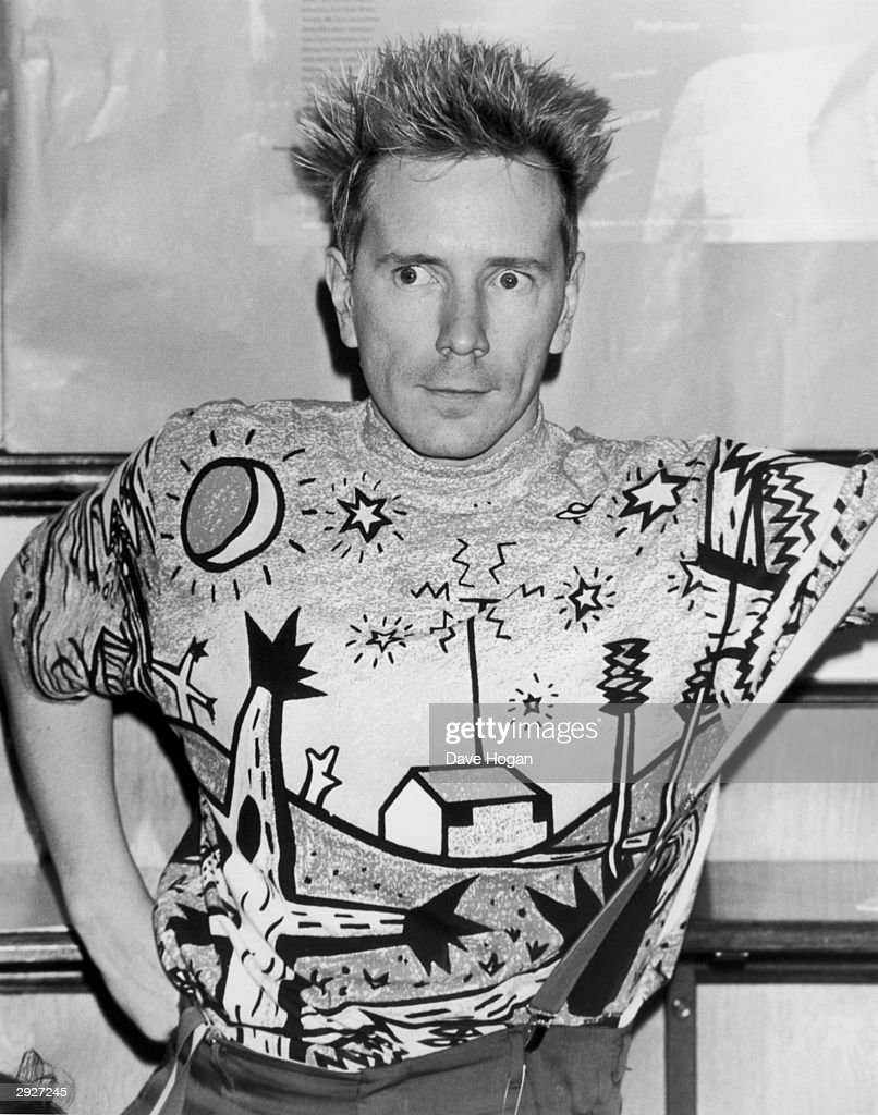 Punk and new wave singer, John Lydon, aka Johnny Rotten at the Hysteria II AIDS charity event at the Sadlers Wells Theater, London, 18th September 1989.