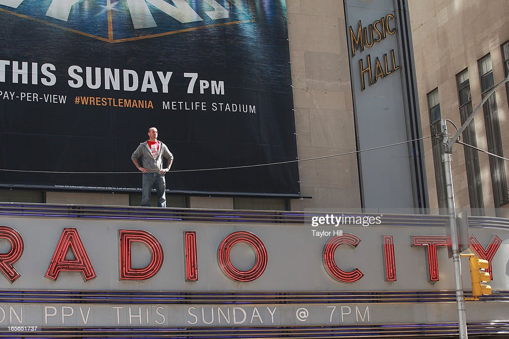 <a gi-track='captionPersonalityLinkClicked' href=/galleries/search?phrase=CM+Punk&family=editorial&specificpeople=5386116 ng-click='$event.stopPropagation()'>CM Punk</a> attends the WrestleMania 29 Press Conference at Radio City Music Hall on April 4, 2013 in New York City.