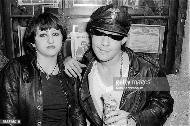 A punk couple hanging out in front of CBGB New York New York May 28 1977